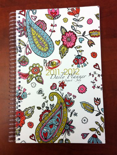 2011-2012 Daily Fashion Day Planner Organizer Agenda (August 2011 Through July 2012)- Hearts