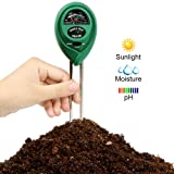[Upgrade Version]3-in-1 Soil pH Meter, Siasky Soil Tester Moisture Meter for pH, Light and Moisture, Plant Soil Tester Kit for Potted Plants, Lawn & Farm (No Battery Needed)