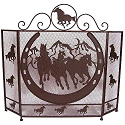 Ll Home Metal Horse Fire Screen by Marco International, Inc.