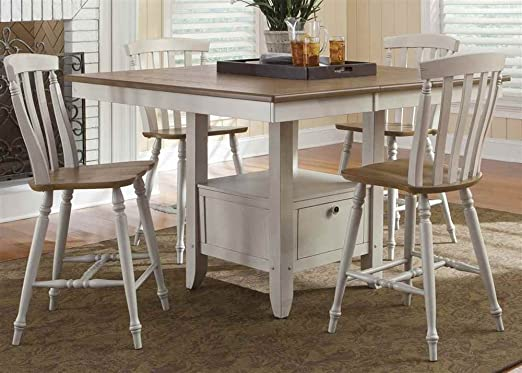 Gathering Table with 4 Counter Stools