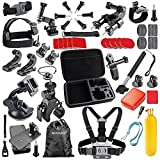 Neewer 44-In-1 Sport Accessory Kit for GoPro Hero4 Session Hero1 2 3 3+ 4 SJ4000 5000 6000 7000 Xiaomi Yi in Swimming Rowing Skiing Climbing Bike Riding Camping Diving and Other Outdoor Sports