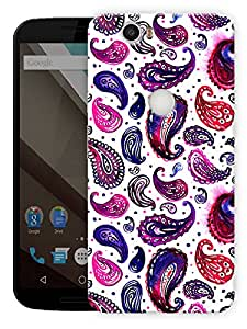"Indian Ethnic Pattern Printed Designer Mobile Back Cover For ""Google Nexus 6 Plus"" By Humor Gang (3D, Matte Finish, Premium Quality, Protective Snap On Slim Hard Phone Case, Multi Color)"