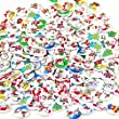 Christmas Pattern Pack of 100pcs shape 2 holes Christmas Stockings polywood 15mm buttons for Sewing Scrapbooking.