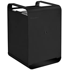 SilverStone Technology Mini-ITX NAS Aluminum Computer Chassis for Cloud and Local Storage Cases CS01B-HS Black (Color: CS01B-HS)