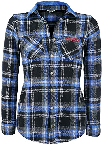 Rockupy Woman Plaid Shirt Camicia donna blu/grigio/nero XL