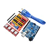 HUIMAI Cnc shield v3 engraving machine 3D Printer+ 4pcs A4988 driver expansion board for Arduino + UNO R3 with USB cable