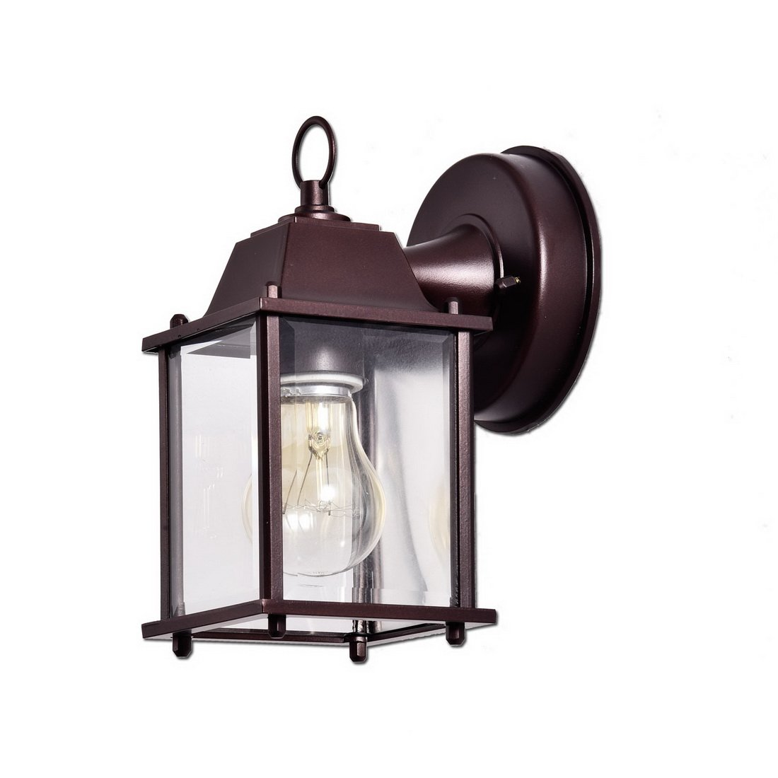 Truelite Vintage Style Outdoor Wall Sconce 1 Light Industrial Clear Glass Panels Wall Lanterns 5