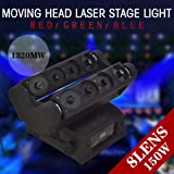 3 in 1 Spider Moving Head Light RGB Beam DMX Stage Disco DJ Lighting (Color: black)