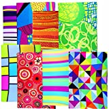 Prints Stretch Fabric Book Cover, Package of 24
