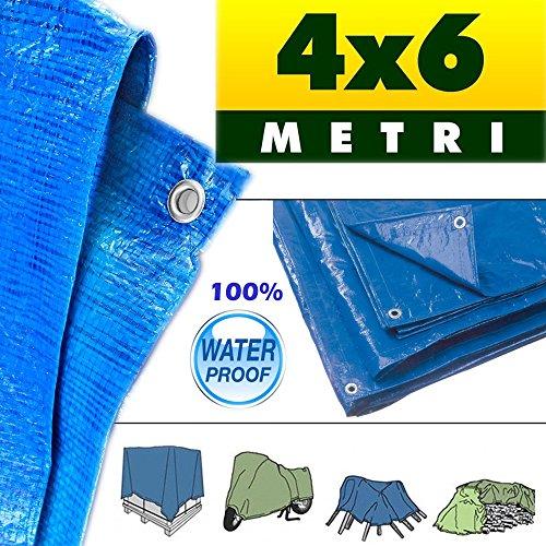 Telo Multiuso Blu (4 x 6 mt)