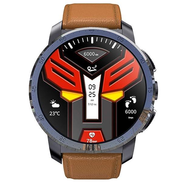 Elevin(TM)  KOSPET Optimus Pro 3GB+32GB AMOLED 4G Dual Chip 8.0MP 800mAh SmartWatch Phone (Brown) (Color: Brown, Tamaño: Standard)