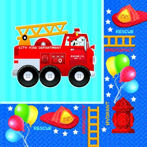 Fire Engine Fun Large Napkins (16ct) - 1