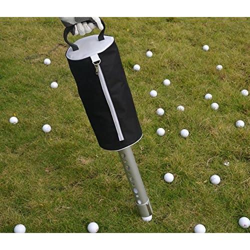 (TTYGJ)ゴルフ ボール らくらく 収集器 拾い 集球 バッグ 付 (ウレタンボールセット) 腰痛 軽減 ゴルフボール かご F144 (本体+ウレタンボール3個)