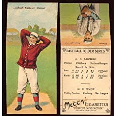 Buy 1911 T201 Mecca Double Folders (Baseball) Card# 43 Albert Leifield Mike Simon of the Pittsburgh... by T201 Mecca