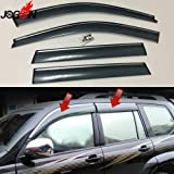 For Toyota For Land Cruiser Prado Fj120 2003-2008 2009 Window Sun Rain Visors Vent Shade Deflector Guard Weather Shield 4Pcs