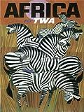 TRAVEL TWA TRANS WORLD AFRICA ZEBRA USA VINTAGE 24x18 INCH (61x46 Cms) POSTER ART PRINT 1058PYLV