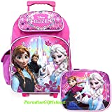 Disney Frozen Princess Elsa Anna 16 inches Rolling Backpack & Lunch Box - BRAND NEW - Licensed Product