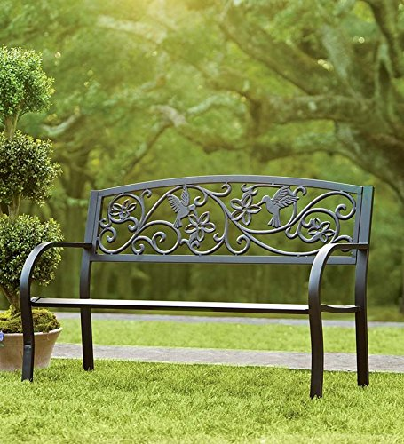 Hummingbird Metal Garden Bench 0