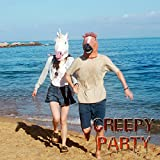 CreepyParty Deluxe Novelty Halloween Costume Party Latex Animal Head Mask Horse head