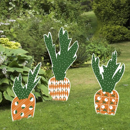Outdoor Nativity Store Cascading Carrots Easter Yard Sign Set