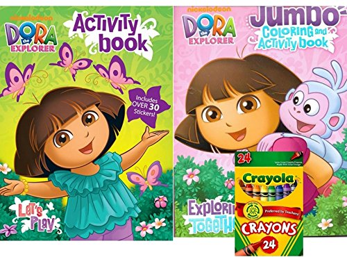 Dora The Explorer Jumbo Coloring And Activity Book With 64 Pages Plus Lets Play Activity Book