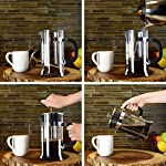 Zestkit French Press Coffee Tea Makers, 1 Liter 34 oz, Heat Resistant Glass and Stainless Steel from Zestkit