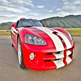 LA SEU D'URGELL, SPAIN - OCTOBER 6 A DODGE VIPER SRT TAKE PART IN ROAD AND TRACK RACING WEEKEND ORGANIZED BY AMERICAN...