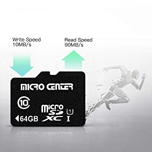 Micro Center 64GB Class 10 Micro SDXC Flash Memory Card with Adapter (2 Pack) (Color: 64GB - 2 pack, Tamaño: 64GB x 2)