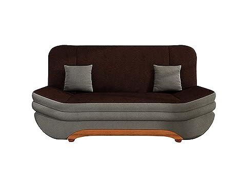 Sofa Weronika mit Bettkasten und Schlaffunktion, inklusive Kissen-Set, Schlafsofa, Große Farb- und Materialauswahl, Couch vom Hersteller, Wohnlandschaft (Alova 10 + Alova 68)