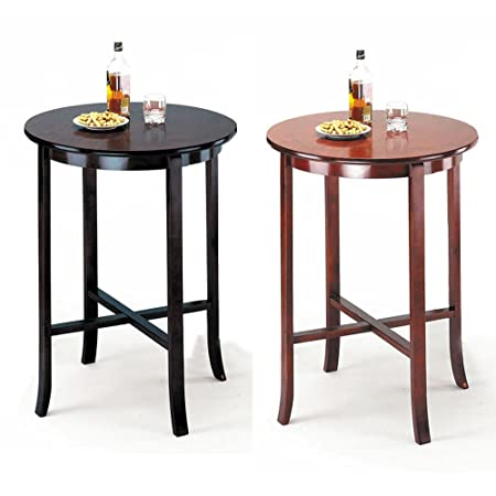 """1PerfectChoice Chelsea Collection 41""""H x 30"""" Dia Round Bar Table in Oak Espresso Color Option"""