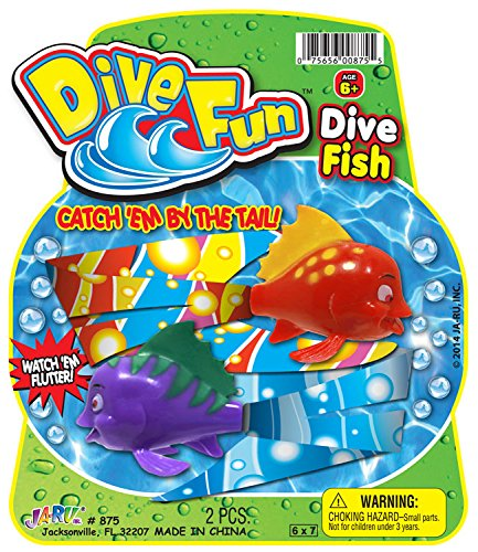 Ja-Ru Fun Dive Fish Party Favor Bundle Pack
