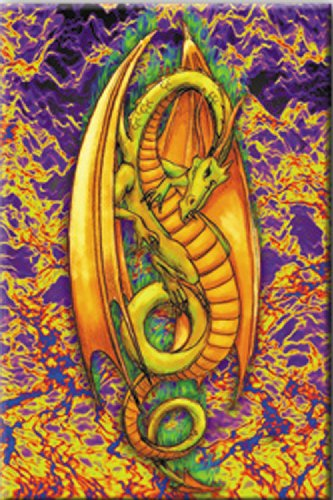 Licenses Products Generic Green Flame Dragon Magnet - 1