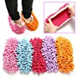 KINGSO Microfiber Mop Shoe Dust Floor Cleaning Slipper Home House Office Polishing Multifunction Clean Cover Random Color