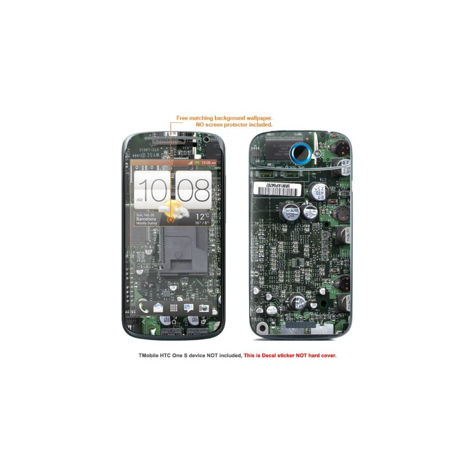 """Protective Decal Skin Sticker for T Mobile HTC ONE S """" T Mobile version"""" case cover TM_OneS 315 Cell Phones & Accessories"""