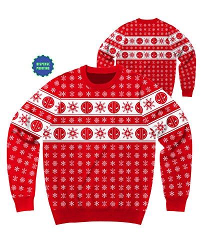 Marvel Deadpool Flakes Ugly Sweater Christmas Sweatshirt