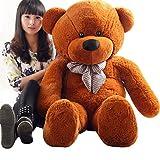 テディベア ぬいぐるみ くま 特大可愛い熊 大きい 抱き枕 おもちゃ (160cm, ダークブラウン)