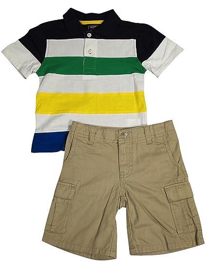 Izod - Little Boys Short Sleeve Short Set