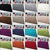 Hochflor-Shaggy-Teppich-Langflor-Carpet-Wohnzimmer-einfarbig-Rechteck-Rund-Teppiche-Mae60x110-cmFarbeLila