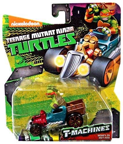 Teenage Mutant Ninja Turtles Nickelodeon T-Machines Mikey in Hot Rod Diecast Car