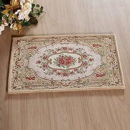 XH@G Floor mat door mats non-slip bath mat living room kitchen carpet mats , shallow rice , 60*90cm