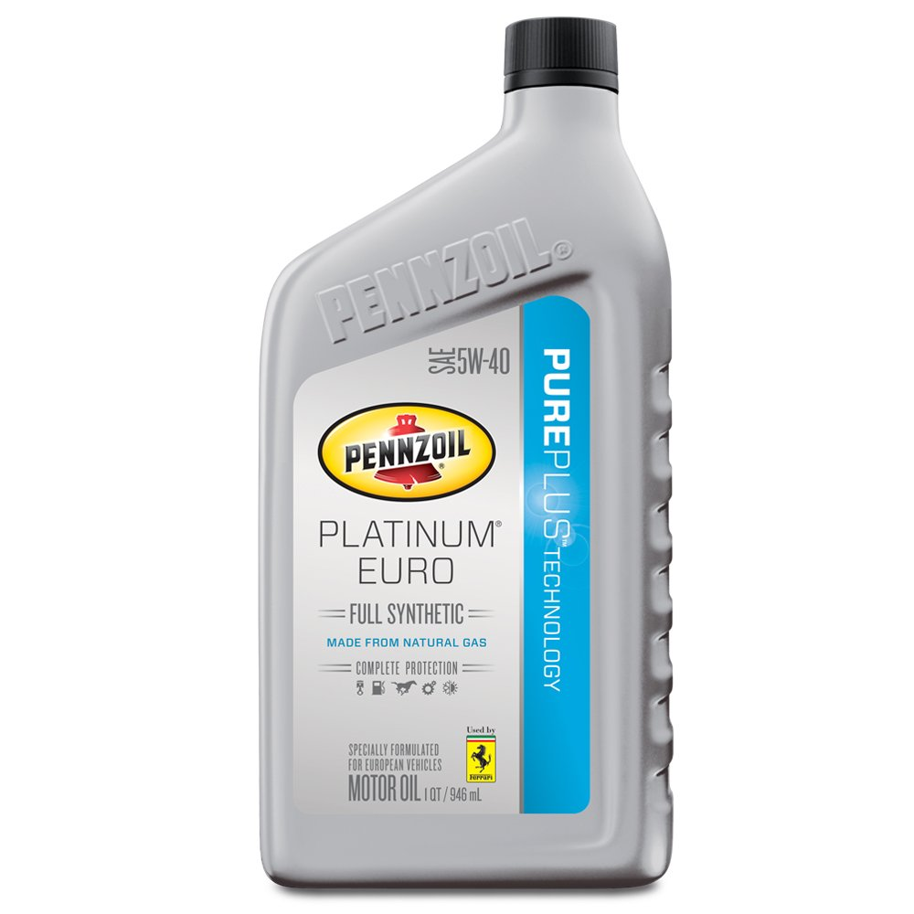 Pennzoil 550040834 platinum euro sae 5w 40 full synthetic for Pennzoil platinum 5w 20 synthetic motor oil