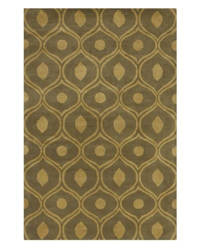 Filament Bradley Hand-Tufted Wool Rug, Brown, 5′ x 7′ 6″