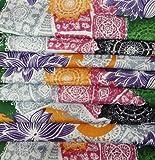 Multicolor Algodón Diseñador Floral Estilo de impresión Tela cubre el vestido de costura del edredón Craft Tela 1 Yard