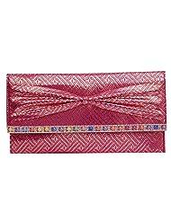 Womaniya PU Pink Handbag For Women(Size-28 Cm X 15 Cm X 3 Cm) - B00SJ1LR6S