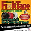 SiliconeFixitTape Silicone Fix It Fast Fixit Tape Roll (Pack of 6)