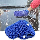 Mikrofaser Handschuh, topist Auto Waschhandschuh/Handschuhe Chenille Mitt/Premium Qualität Reinigungstuch für Auto Reinigung & Auto Details. (2Stück)