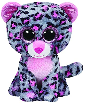 """Ty Beanie Boo 6"""" Tasha The Grey and Pink Leopard by Ty"""