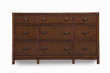 Alpine Furniture American Lifestyle Loft 9 Drawer Dresser, Brown