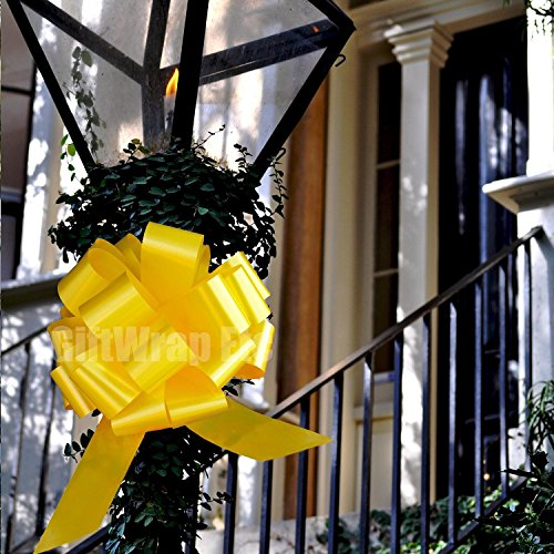 daffodil-yellow-pull-bows-9-wide-set-of-6-support-our-troops-ribbon