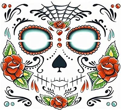 Sugar Skull Makeup Temporary Tattoo